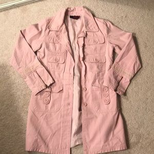 X Pink Trench Coat